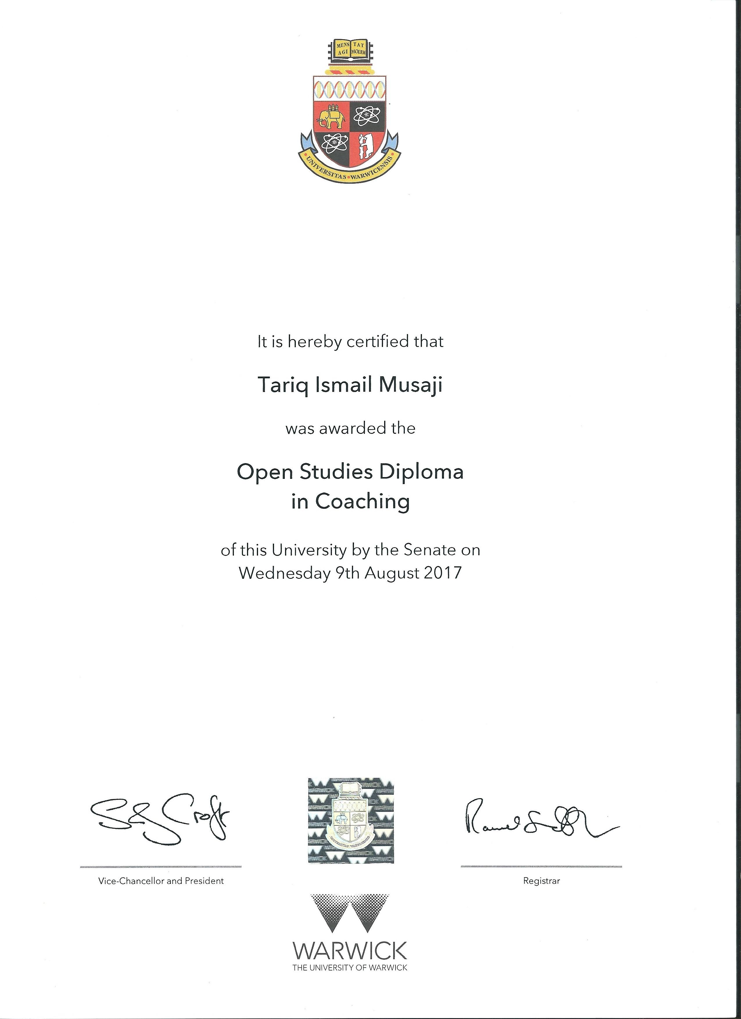 Diploma in Coaching
